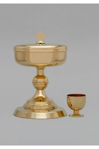 The brass chalice and tin 580