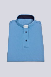 Polo shirt with buttons: blue [KUS]