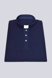 Polo shirt with buttons: dark blue [KUS]