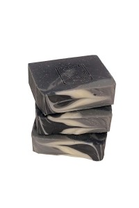 Soap with charcoal and...