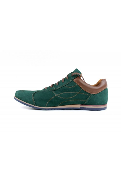 Malachite urban suede shoes
