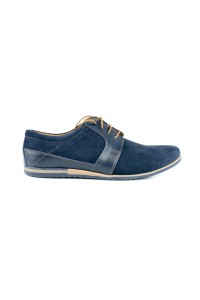 Navy blue shoes in a casual...