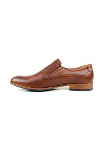 Brown slip shoes
