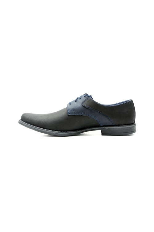 Black-and-blue shoes with...