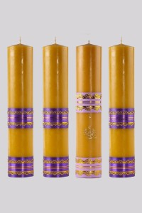 Advent candle set [A1]
