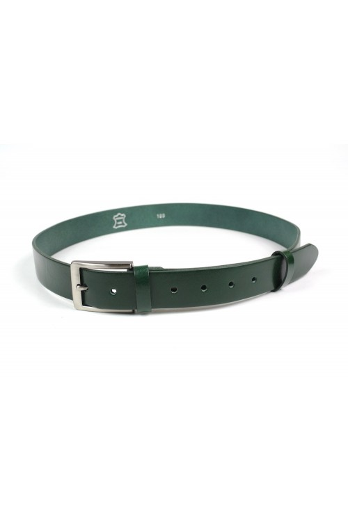 Green leather strap with...