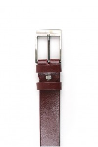 Maroon leather strap with...