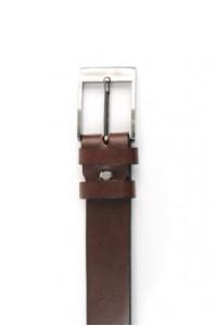 Dark brown leather belt...