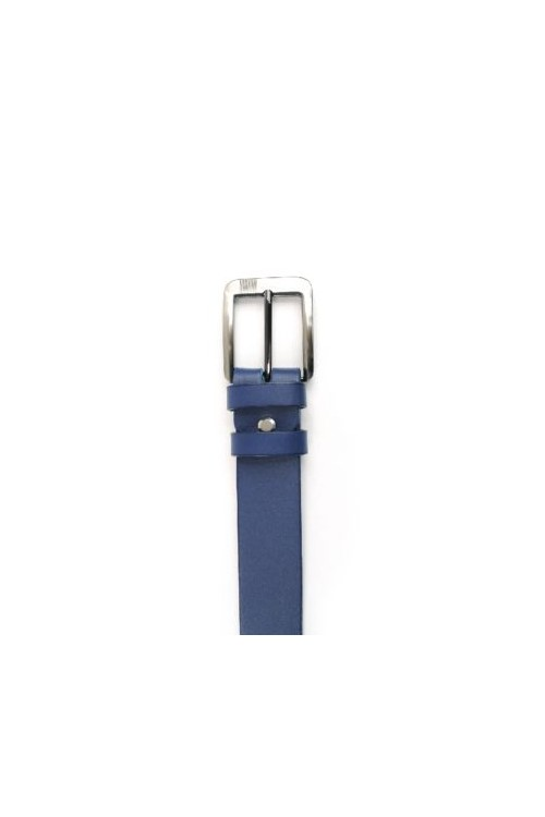 Navy leather strap with buckle