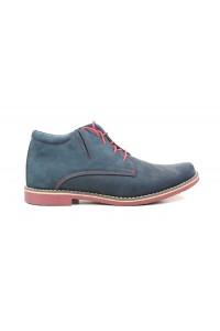 Blue-salmon nubuck boots...