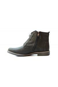 Black nubuck boots for winter
