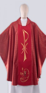 Red Chasubles with Embroidery - Chasubles - Liturgical-Clothing.com