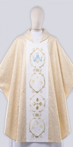 Marian Chasuble with Embroidery - Chasubles - Liturgical-Clothing.com