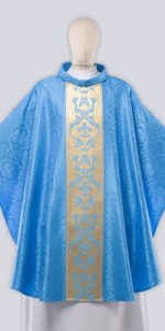 Marian Chasuble with Decoration - Chasubles - Liturgical-Clothing.com