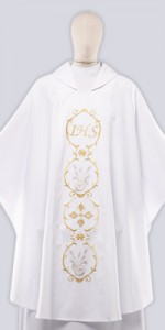 Ceremonial Chasuble with Embroidery - Chasubles - Liturgical-Clothing.com