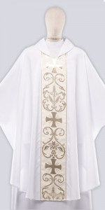 Ceremonial Chasuble with Ornaments - Chasubles - Liturgical-Clothing.com