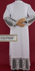 Albs with 30cm Guipure Lace - Albs with Guipure Lace - Priests' Albs - Liturgical-Clothing.com