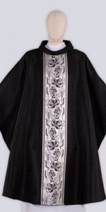 Black Chasubles with Ornaments - Chasubles - Liturgical-Clothing.com