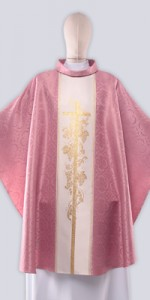 Pink Chasubles with Ornaments - Chasubles - Liturgical-Clothing.com