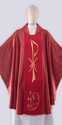 Red Chasubles with Embroidery