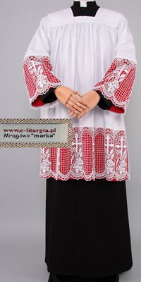 Surplices for Prelates with 30cm Guipure Lace