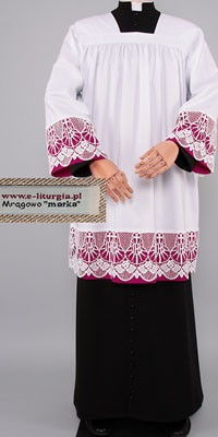 Surplices for Prelates with 18 Guipure Lace