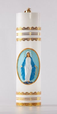 Altar candles made from oil