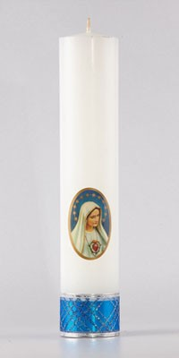 Marian altar candles