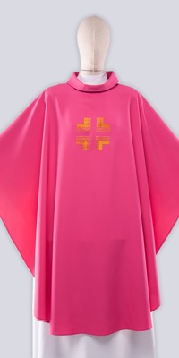 Pink Chasubles with Embroidery